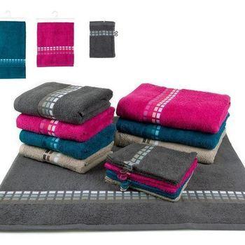 gants de toilette quattro en différents coloris