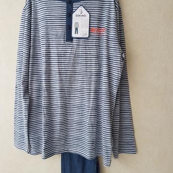 pyjama coton jersey 3 boutons pour homme - wave vibes - reste M - L - XL