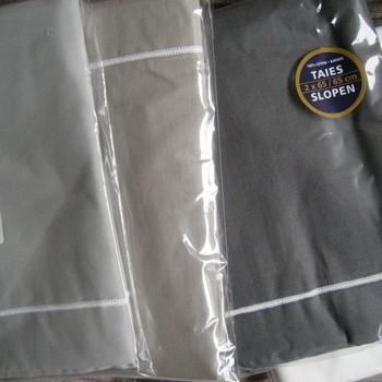taies en coton avec biais - gris foncé : 2 pour 9.60€