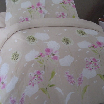 drap plat + drap housse 1.80*2m + 2 taies pour lit de 2 pers - extra grand en coton - beige rose