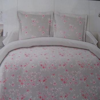 drap plat + drap housse 1.80*2m + 2 taies pour lit de 2 pers - extra grand en coton - gris rose