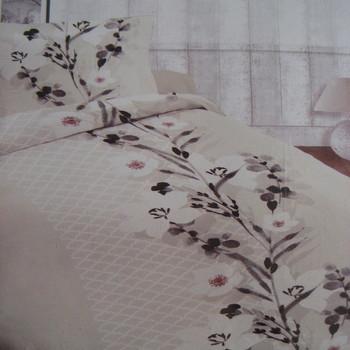 drap plat + drap housse + 1 taie en 100% coton - beige