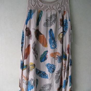 robe bain de soleil léger pour dame - plumes beige
