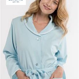 peignoir boutonné gaufré léger pour dame - 2 coloris