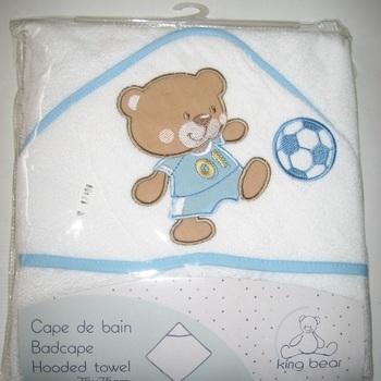cape de bain maxi - ours footballeur