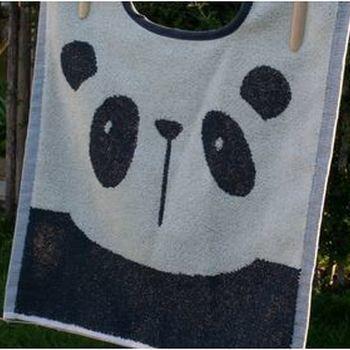 bavoir maxi éponge avec lichette - panda