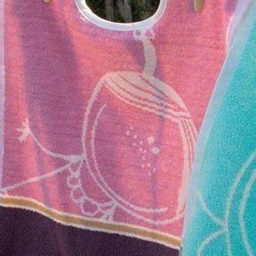 bavoir maxi éponge avec lichette - fille rose