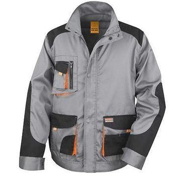 veste de travail pour homme - gris noir orange