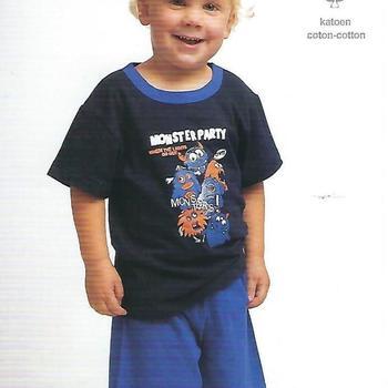 pyjashort coton jersey pour garçon de 2 à 6 ans - monstres