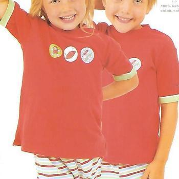 pyjashort coton jersey pour garçon - space rouge 2ans 3ans 4ans