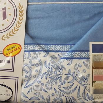 drap plat + drap housse 1.80*2m + 2 taies pour lit de 2 pers - extra grand en flanelle - ciel