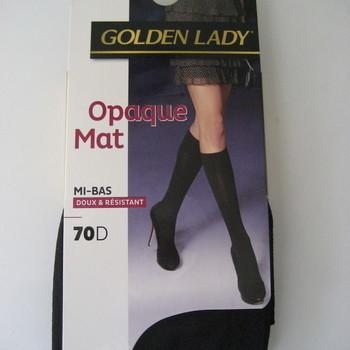 mi-bas opaque golden lady pour dame - noir