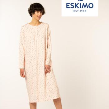robe de nuit coton jersey pour dame - audry - 2 coloris