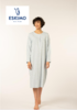 robe de nuit coton jersey pour dame - audry - bleu : M - L -XL - 3XL - 4XL - aussi de grandes tailles - à partir de