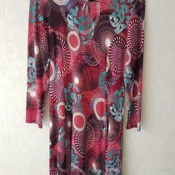 robe tricot ronds pour dame - qualité française - ronds bordeau