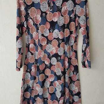 robe tricot ronds pour dame - qualité française - ronds marine rose