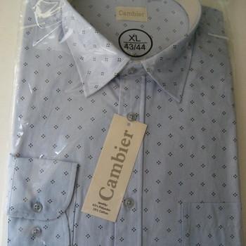 chemise longues manches polyester-coton de M à 3XL - 2 motifs