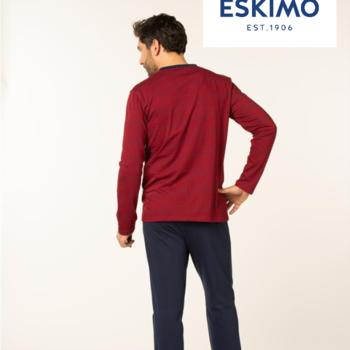 pyjama coton jersey pour homme - harry - bleu ou bordeau