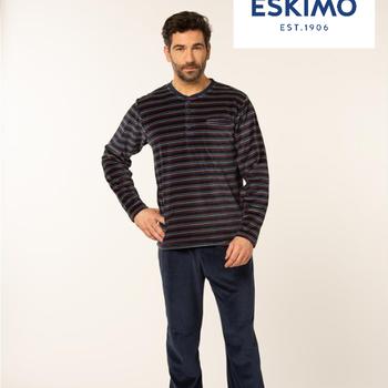 pyjama velours rasé pour homme - ronny - reste 3XL & 4XL