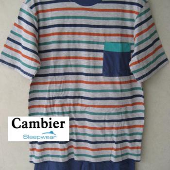 pyjashort ras du cou avec poche pour homme == - 2 coloris