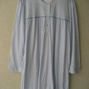 robe de nuit lm coton jersey pour dame - ciel - qualité belge