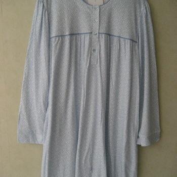 robe de nuit coton jersey pour dame - ciel à pois - qualité belge - S - M - L - XL - XXL - 3XL à partir de