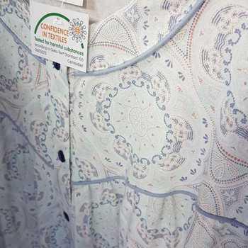 robe de nuit lm coton jersey pour dame - ciel cashemire - qualité belge - reste L