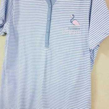 pyjama corsaire coton pour dame - == flamand ciel - S M L XL XXL à partir de