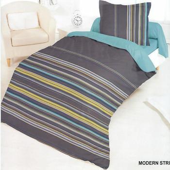 housse de couette 1.40*2m + 1 taie en 100% coton - modern stripes