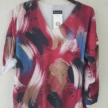 blouse multicolore pour dame - rose - T40/46