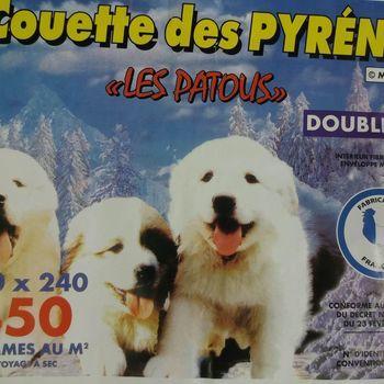 """couette imprimée double face """"pyrénées"""" 2.40*2.20m pour lit de 2 personnes - tons rose - nettoyage à sec"""