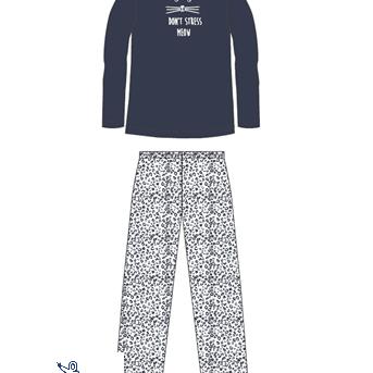 pyjama molletonné pour dame - don't stress marine