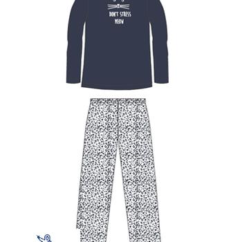 pyjama molletonné pour dame - don't stress marine - reste S - M