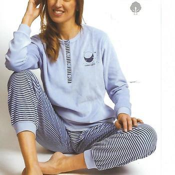 pyjama velours rasé pour dame - night - ciel - reste S - L - XL - XXL à partir de