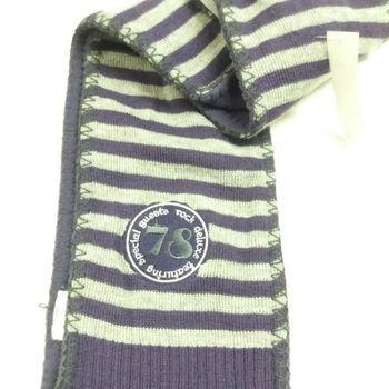 écharpe tricot doublé polaire pour enfant - mauve gris en PROMO