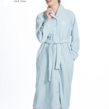 peignoir boutonné polaire pour dame - turquoise XL - ciel : S XL - parme : S
