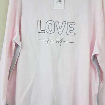 pyjama molletonné pour dame - grandes tailles 3XL - love