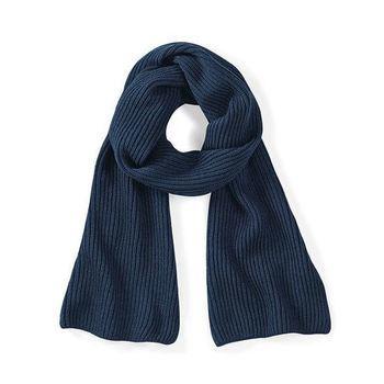écharpe tricot gris