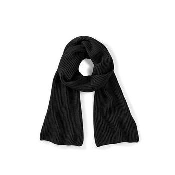 écharpe tricot noire