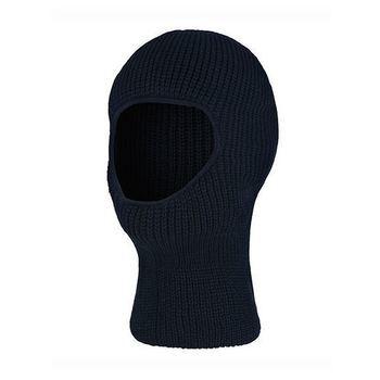 cagoule tricot pour grands enfants ou adulte en noir & marine
