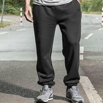 pantalon jogging molletonné resserré dans le bas en noir ou gris de 3XL à 5XL
