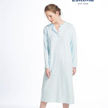 robe de nuit coton jersey pour dame - adalyn - aussi en grandes tailles - turquoise L - XXL - 3XL - 4XL - à partir de