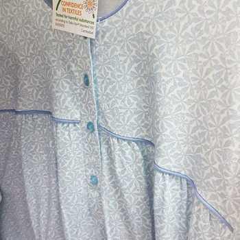 robe de nuit boutonnée coton jersey pour dame - catini ciel - qualité belge - M - XL - 4XL - aussi de grandes tailles
