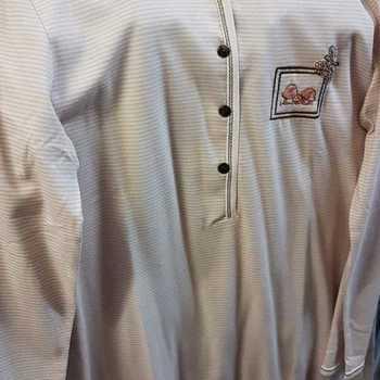 liquette coton jersey longues manches catini rose-gris : reste S - à partir de