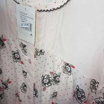 robe de nuit boutonnée coton jersey - saumon 38/40 42/44