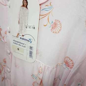 robe de nuit coton jersey - alette rose - reste S en PROMO