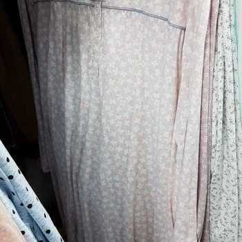 robe de nuit coton jersey - empire - rufine rose - reste 4XL - fabrication belge