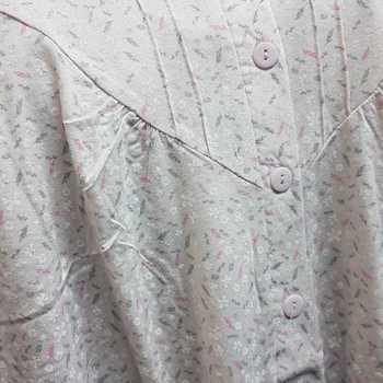 robe de nuit coton jersey - petits épis rose - M - XL - XXL