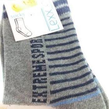 chaussettes 19/22 gris ligné en PROMO