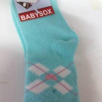 chaussettes bb turquoise 92 en PROMO